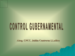QUÉ ES CONTROL GUBERNAMENTAL?