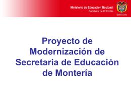 Procesos a Implantar - Secretaría de Educación de Montería