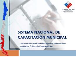 sistema nacional de capacitación municipal