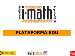 Plataforma EDU - i-MATH