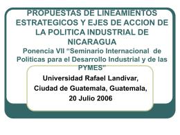 Ing. Pedro Antonio Blandón L.: Propuesta Política Industrial de
