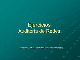 Ejercicios Auditoría de Redes