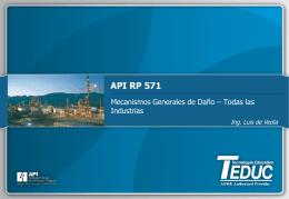 API RP 571