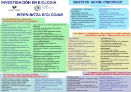 Biologiako ikerketa lerroak
