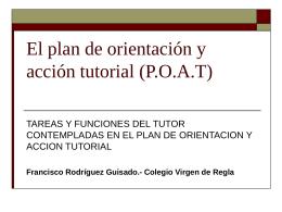 Plan de Orientación y Acción Tutorial (POAT) C. Virgen de Regla