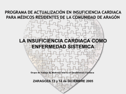 Insuficiencia cardiaca y diabetes mellitus (Pilar Sampériz)