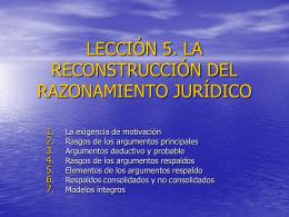 lección 1. lógica y argumentación jurídica - ocw