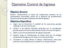 Operativo Control de Ingresos Fedatario Fiscalizador