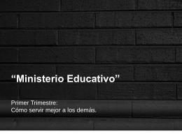 12. Ministerio educativo