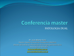 Clase maestría patología dual