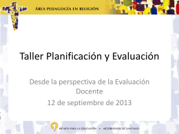 Taller Planificación y Evaluación 3