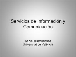 Servicios de Información y Comunicación