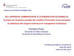 1. - Université de Poitiers