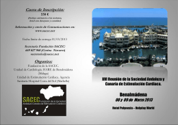 Secretaria Fundación SACEC - Sociedad Andaluza y Canaria de