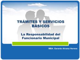 Tramites Y Servicios Basicos - Gerardo Alvarez