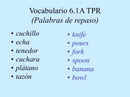 Vocabulario 0.1 A