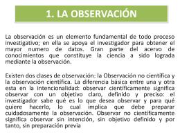 1. LA OBSERVACIÓN