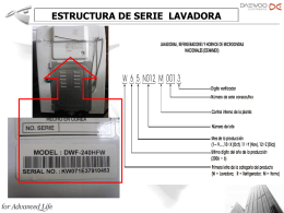 ESTRUCTURA DE No. de SERIE Daewoo