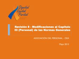 Presentación - Asociación del Personal de la OEA