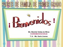 Orientación para padres - Ms. Mariella