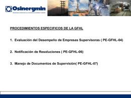 Evaluación del Desempeño de Empresas Supervisoras