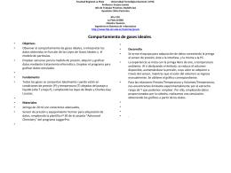 Gases ideales - Facultad Regional La Plata