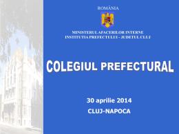 Aprilie 2014 - Prefectura Cluj