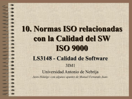 ISO 9000 - Universidad Antonio de Nebrija