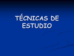TÉCNICAS DE ESTUDIO - ubacbcbio54mercedes