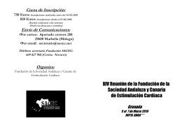 750 Euros - Sociedad Andaluza y Canaria de Estimulación