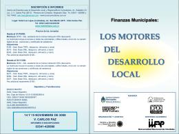 Finanzas Municipales - Consejo Profesional de Ciencias