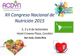 Programa del XII Congreso Nacional de Nutrición 2015