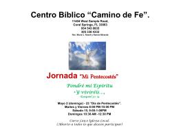 Slide 1 - Centro Bíblico Camino de Fe
