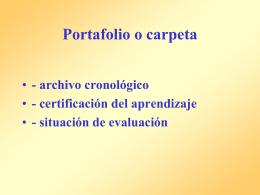 9. Portafolio o carpeta