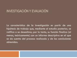 INVESTIGACIÓN Y EVAUACIÓN - Alfonso-UPN