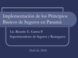 Implementación de los Principios Básicos de Seguros en