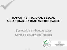 Aspectos institucionales y legales agua potable y saneamiento básico