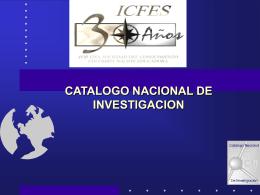 Catalogo Nacional de Investigación