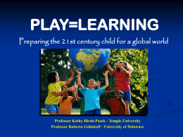 PLAY=LEARNING - College of Liberal Arts