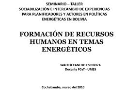 WCanedo PAER - Plataforma Energética