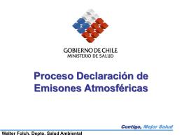 Proceso Declaración de Emisones Atmosféricas Walter Folch. Depto