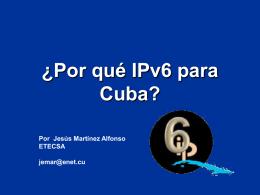 Grupo Gestor IPv6 Cuba. Organización, Objetivos y plan de