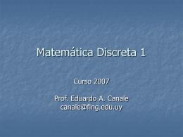 Matemática Discreta 1