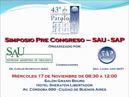 Simposio Pre Congreso – SAU - SAP