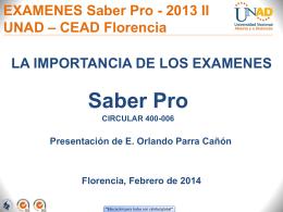 Presentación Saber Pro 2014