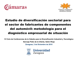 Diversificación sectorial para la industria auxiliar de automoción