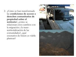 derechos agrarios - Recursos comunes, territorio y migración