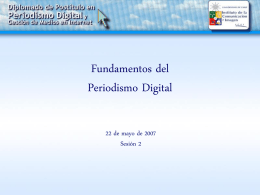 Fundamentos del Periodismo Digital