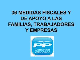 medidas fiscales de apoyo a las familias, trabajadores y empresas