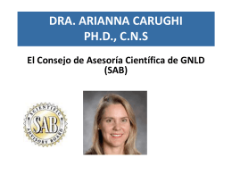 Presentación Power Point del Consejo de Asesoría Científica